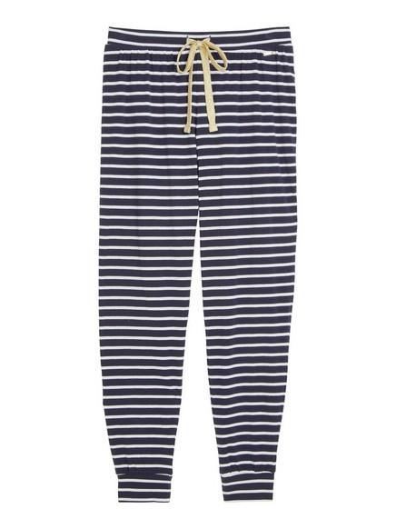 Raidalliset pyjamahousut Sininen