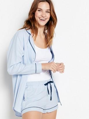 Blåstripete pyjamasshorts Blå
