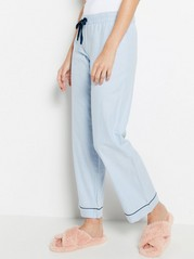 Pyžamové kalhoty smodrými pruhy Modrá