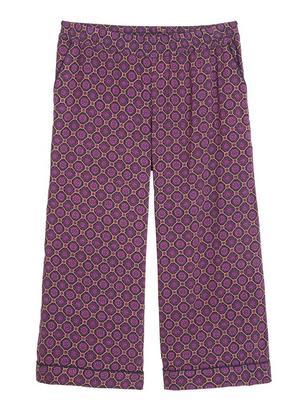 Kuvioidut pyjamahousut viskoosia Liila