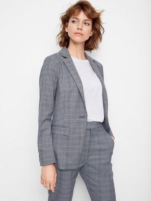 Checked Blazer Grey