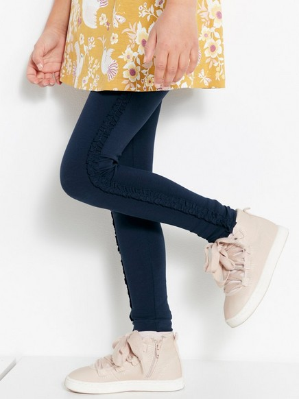 Leggings with Side Frills Blue
