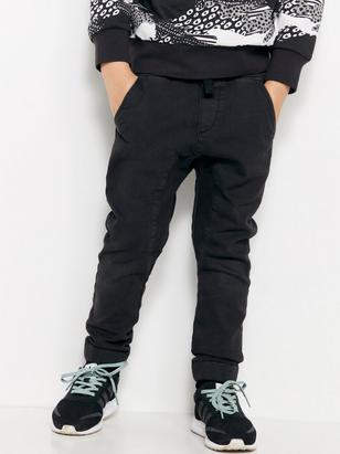 Loose Trousers with Dropped Crotch Black