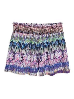 Mønstret shorts Havblå