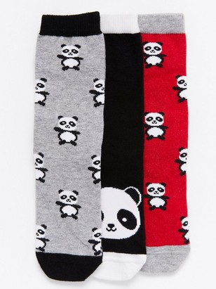3-Pack Socks with Pandas Red