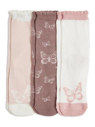 3-pack Socks Grey