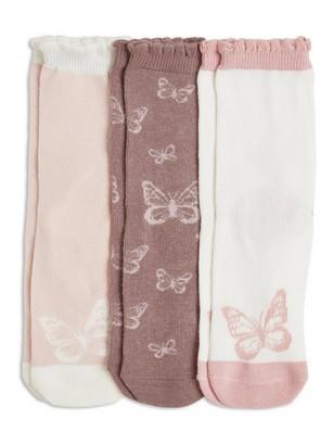 3-pakning med sokker Grå