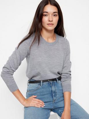 Sweater in Merino Wool Grey