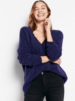 Sweater in Wool Blend Lilac
