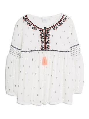 Patterned Blouse White