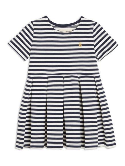 Stripet kjole Blå