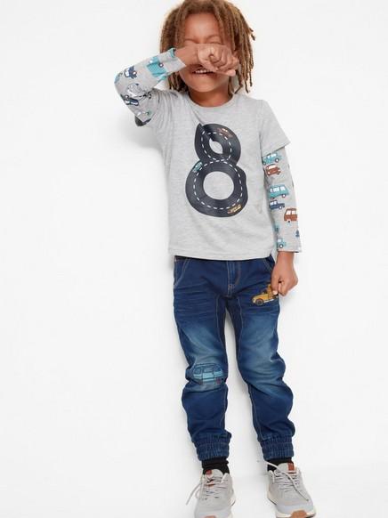 Løstsittende jeans Blå