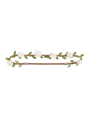Headband with Flowers White