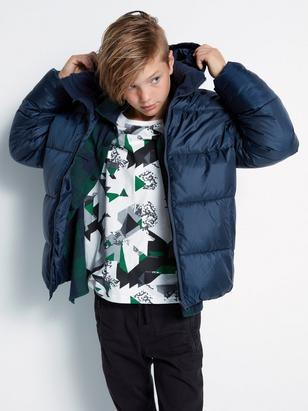 Oversized Puffer Jacket Blue
