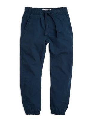 Loose Lined Trousers Blue