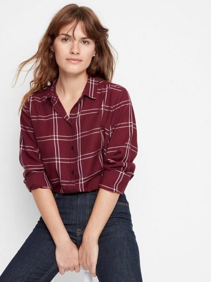 Skjorta i viskos Röd