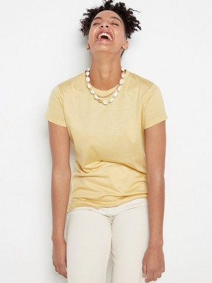 Jersey Top in lyocell  Yellow