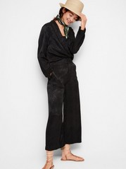 LYKKE wide trousers Svart