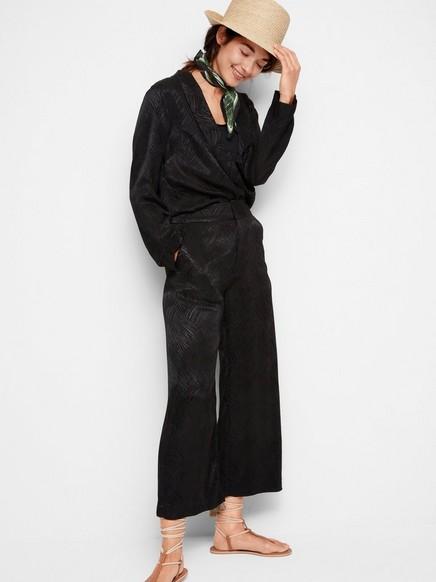 LYKKE wide trousers Svart