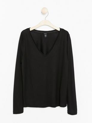 V-neck Top in Tencel® Black
