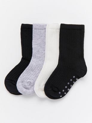 4-pack Antislip Socks Black