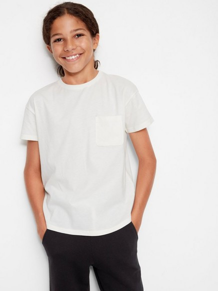 Lang T-skjorte Hvit