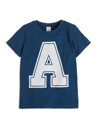 T-shirt with Print Blue