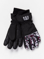 Ski Gloves with Pattern  Lilac