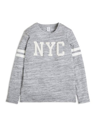 Long Sleeve T-shirt with Print Grey