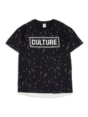 T-shirt with Print Black