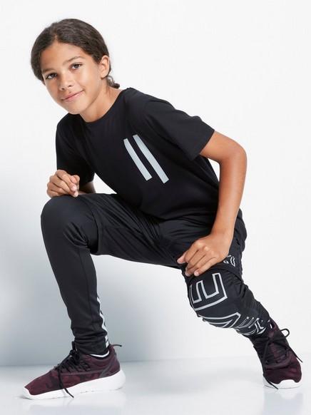 Tričko sreflexním potiskem Černá