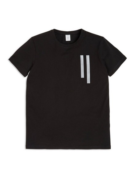 T-shirt with Reflective Print Black