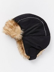 FIX Cap Helmet with Fake Fur Black
