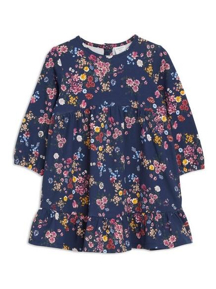 Šaty skvětinovým vzorem Modrá