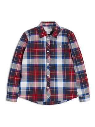 Checked Cotton Shirt Blue