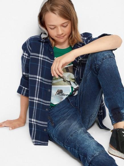 Klasické džíny se super strečem Modrá