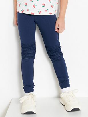 Leggings with Frill Knees Blue