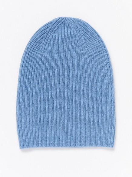 Kašmírová čepice Modrá
