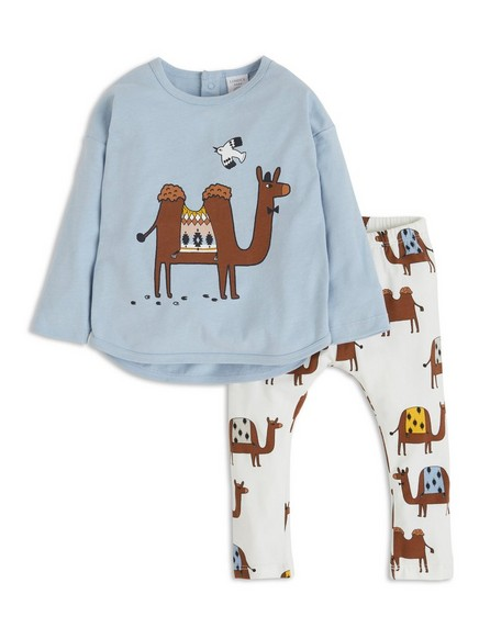 Set with Top and Leggings Blue