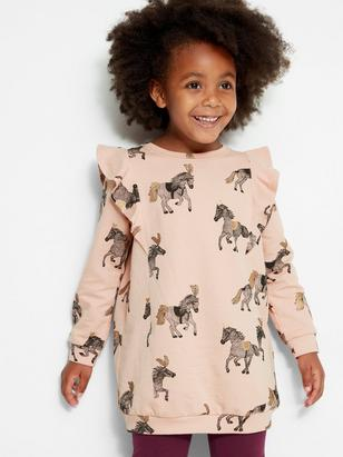 Tunic with Frills Pink