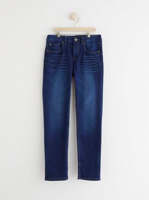 Narrow Jersey Jeans Blue