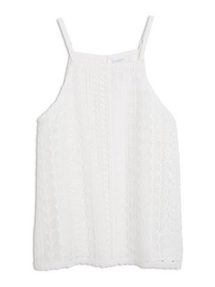 Lace Singlet White