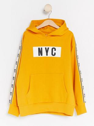 Hooded Sweater with Print Yellow