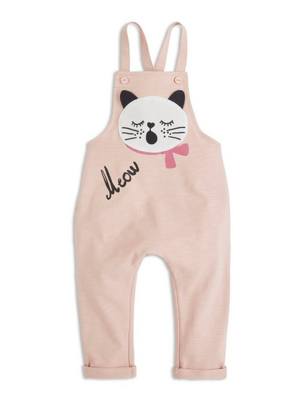 Bib Trousers with Print Pink