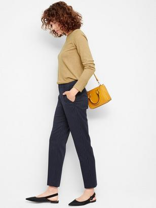 IRIS Slim Trousers with Pinstripes Blue