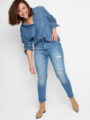 Shirt in Tencel® Blend Blue
