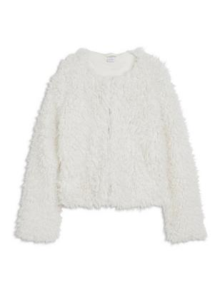 Fake Fur Jacket White