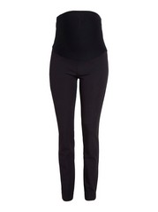 MOM JONNA slim high waist byxa Svart