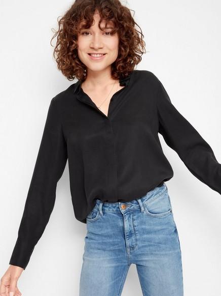 Bluse i Tencel® Svart