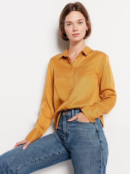 Blouse in Tencel® Yellow